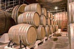 De kelder van de wijnmakerij Royalty-vrije Stock Fotografie