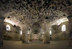 Ondergronds van Diocletian Paleis, Gespleten Stad, Kroatië Stock Foto's