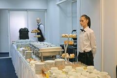 De kelners werken Stock Fotografie