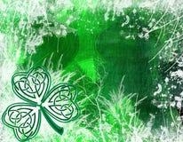 De Keltische achtergrond van de Klaver Stock Fotografie