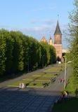 De Kenigsbergkathedraal is hoofdsymbool van de stad Kaliningrad royalty-vrije stock foto's