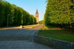 De Kenigsbergkathedraal is hoofdsymbool van de stad Kaliningrad stock afbeelding