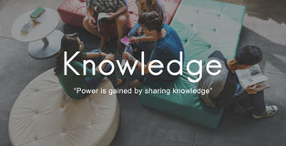 De kennis leert het Grafische Concept van Onderwijsmensen royalty-vrije stock foto's
