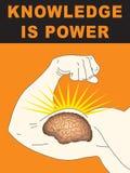 De kennis is Macht Stock Foto's