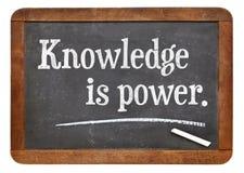 De kennis is macht Stock Afbeeldingen