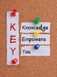 De kennis machtigt u en ZEER BELANGRIJK Acroniem royalty-vrije stock foto