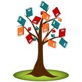 De Kennisboom van de boeklezing Stock Afbeeldingen