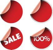 De kentekens en de stickers van etiketten Royalty-vrije Stock Afbeeldingen