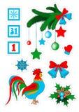 De kentekens van het Kerstmisflard, stickers stock illustratie
