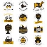 De kentekens vectorreeks van de reismotivatie Stock Foto's