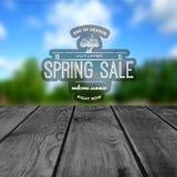 De kentekensemblemen en etiketten van de de lenteverkoop voor om het even welk gebruik Royalty-vrije Stock Fotografie