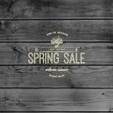 De kentekensemblemen en etiketten van de de lenteverkoop voor om het even welk gebruik Stock Foto's