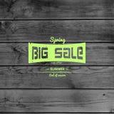 De kentekensemblemen en etiketten van de de lenteverkoop voor om het even welk gebruik Royalty-vrije Stock Foto
