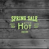 De kentekensemblemen en etiketten van de de lenteverkoop voor om het even welk gebruik Stock Afbeeldingen