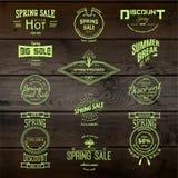 De kentekensemblemen en etiketten van de de lenteverkoop voor om het even welk gebruik Stock Fotografie