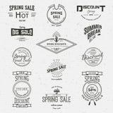 De kentekensemblemen en etiketten van de de lenteverkoop voor om het even welk gebruik Royalty-vrije Stock Afbeelding