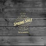 De kentekensemblemen en etiketten van de de lenteverkoop voor om het even welk gebruik Stock Afbeelding
