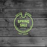 De kentekensemblemen en etiketten van de de lenteverkoop voor om het even welk gebruik Royalty-vrije Stock Afbeeldingen