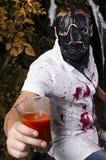 De kerel in een kostuum voor Halloween Royalty-vrije Stock Foto