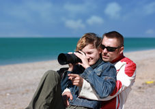 De kerel en het meisje Stock Fotografie