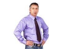 De kerel op het kantoor Stock Foto's