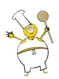 De Kerel van het kokende Vet stock illustratie