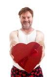De Kerel van het valentijnskaartenhart stock foto's
