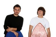 De kerels van Surfer Stock Afbeeldingen