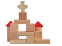 De kerk blokkeert stuk speelgoed Stock Afbeeldingen