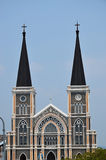 De kerk in Chunthaburi royalty-vrije stock foto