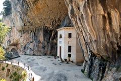 De kerk in de rotsen Stock Afbeelding