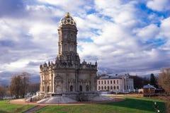 De Kerk Dubrovitsy van Znamenskaya stock fotografie
