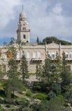 De kerk en de abdij van Dormicion in Jeruzalem Royalty-vrije Stock Foto's