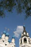 De kerk en de klokketoren van de drievuldigheid in Murom Royalty-vrije Stock Foto