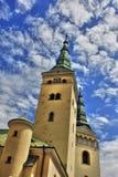 De kerk en de klokketoren van de renaissance, hdr Stock Foto's