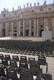 De kerk en de zetels van heilige Peters Royalty-vrije Stock Foto