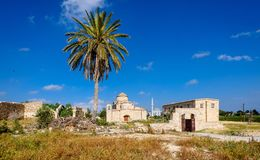 De Kerk en het Klooster van Panagiakanakaria in de Turkse bezette kant van Cyprus 14 royalty-vrije stock fotografie