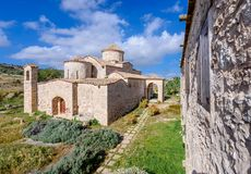 De Kerk en het Klooster van Panagiakanakaria in de Turkse bezette kant van Cyprus 2 royalty-vrije stock foto's