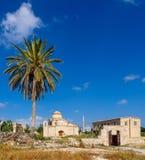De Kerk en het Klooster van Panagiakanakaria in de Turkse bezette kant van Cyprus 18 stock fotografie