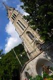 De kerk en het standbeeld van Liechtenstein Royalty-vrije Stock Foto