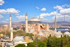 De kerk en de moskee van Haghiasophia Stock Foto's
