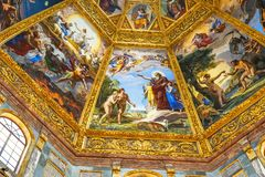 De Kerk Florence Italy van Adam Eve God Painting San Lorenzo Medici stock afbeelding