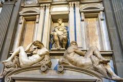De Kerk Florence Italy van Michelangelo Statues Chapel San Lorenzo Medici royalty-vrije stock afbeeldingen