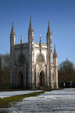 De kerk Gotische kapel van heilige Alexander Nevsky Orthodox in het park van Alexandrië Voorstad van Heilige Petersburg, Rusland Stock Foto's