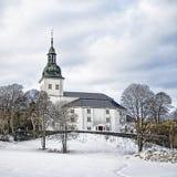 De Kerk HDR van Jevnaker Stock Afbeelding