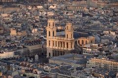 De kerk heilige-Sulpice Royalty-vrije Stock Afbeeldingen