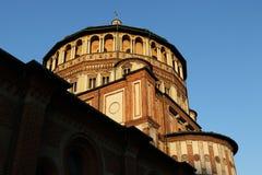 De kerk Milaan, Milaan expo2015 van Santa Maria alle grazie Stock Fotografie