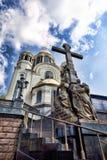 De kerk op het Bloed Royalty-vrije Stock Afbeeldingen