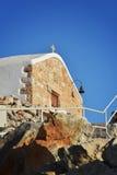 De kerk op het eiland van Rhodos Stock Foto