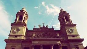 De Kerk Oude Stad Europa Spanje van Pamplona Stock Fotografie